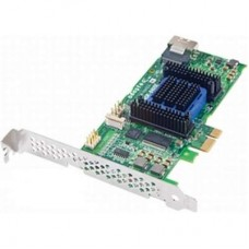 RAID-контроллер Adaptec RAID 6405E ASR-6405E Single PCI-E x1, 4-port SAS / SATA, RAID 0 / 1 / 1E / 10 / JBOD, Cache 128Mb