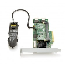 HP Smart Array P410/1GB with Flash BWC Controller RAID 0,1,1+0,5,5+0 (8 link: 2 int (SFF8087) ports SAS) PCI-E x8, incl. h/h  and amp  f/h. brckts