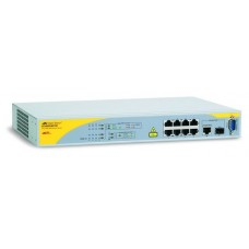Allied Telesis 8 Port POE Managed Fast Ethernet Switch with One 10/100/1000T / SFP Combo uplinks