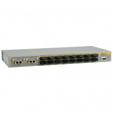 Allied Telesis L2+ switch with 16-100FX ports plus 2 expansion slots