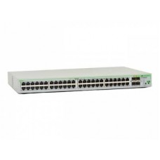 Layer 2 Switch with 48-10/100/1000Base-T ports plus  4 active SFP slots (unpopulated). ECO SWITCH