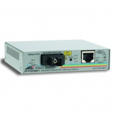 Allied Telesis Single-fiber 10/100M bridging converter with 1550Tx/1310Rx, 15km reach, operating temperature of 65C