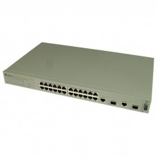 Allied Telesis 24x10/100 Websmart switch + 2 SFP/1000T Combo Ports (VLAN group, Port Trunking, Port Mirroring, QoS) rackmount hardware included