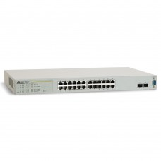 Allied Telesis 20x10/100/1000T + 4x10/100/1000T or SFP WebSmart switch (VLAN group, Port Trunking, Port Mirroring, QoS, 19')