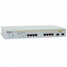 Allied Telesis 8 port 10/100/1000TX WebSmart POE switch with 2 SFP bays