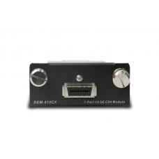 D-Link DEM-410CX, 10 Gigabit Ethernet Module with 1CX4 Port, compatible with DGS-34xx series Gigabit switches
