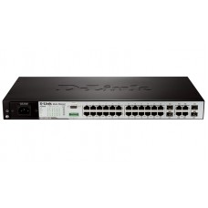 D-Link DES-3200-28/ME, 24-Port 10/100Mbps+ 4 Combo 1000BASE-T/SFP L2 Management Switch