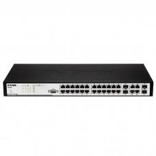 D-Link DES-3200-28F, L2 Management Switch, 24x100Mbps SFP open slots + 4 Combo 1000BASE-T/SFP