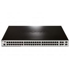 D-Link DES-3200-52P, 48-Port 10/100Mbps PoE + 2 Combo 1000BASE-T/SFP + 2 10/100/1000BASE-T L2 Management Switch