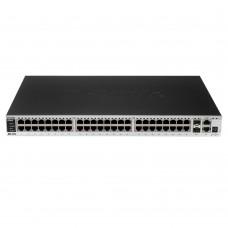 D-Link DES-3552,  L2 Managed Switches, 48x10/100Mbps, 2xCombo 1000BASE-T/SFP, 2x1000BASE-T