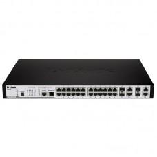 D-Link DES-3810-28 24-Port 10/100Mbps + 4 Combo 1000BASE-T/SFP L3 Managed Switch