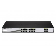 D-Link DGS-1210-16, WebSmart Switch, 12x10/100/1000Base-T  and amp  4 combo 1000Base-T/MiniGBIC (SFP) ports