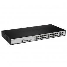 D-Link DGS-3200-24, Managed L2 Gigabit Switch, 20x10/100/1000BASE-T, 4xCombo 1000BASE-T/SFP