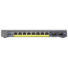 70 Managed Smart-switch with 8GE+2SFP ports (including 8GE PoE ports) with external power supply and Green features, PoE budget up to 46W