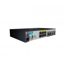 HP 2520-8-PoE Switch (8 ports 10/100 PoE + 2 10/100/1000 or 2 SFP, Managed, Layer 2, Fanless design)(repl. for JE022A, JE029A)
