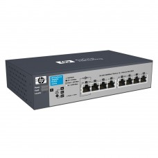 HP 1810-8G Switch (8 ports 10/100/1000, WEB-Managed, Fanless design, desktop)