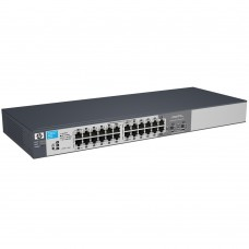 HP 1810-24G Switch (22 ports 10/100/1000 +2 10/100/1000 or 2mini-GBIC, WEB-Managed, Fanless design, 19')