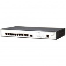HP 1905-10G-PoE Switch (9 ports 10/100/1000 RJ45 + 1x1000 RJ45/SFP, PoE 62Wmax, managed L2, 19')
