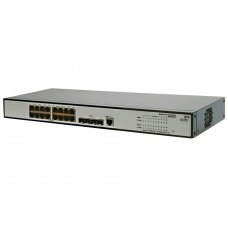 HP 1910-16G Switch (16x10/100/1000 RJ-45 + 4xSFP Web, SNMP, L3 static, single IP management up to 32 units, 19')