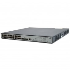 HP 1910-24G-PoE (365W) Switch (24x10/100/1000 RJ-45 + 4xSFP Web, PoE 365W, SNMP, L3 static, single IP management up to 32 units, 19')