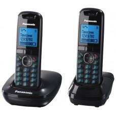 72 KX-TG5512RUB (черный) 2 трубки в комлекте, AOH, Caller ID, подключ до 6 доп.трубок, подсветка дисплея, скиперфон, полифония, цифровой автоответчик