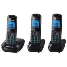 72 KX-TG5513RUB (черный) 3 трубки в комплекте, AOH, Caller ID, подключ до 6 доп.трубок, подсветка дисплея, скиперфон, полифония, цифровой автоответчик