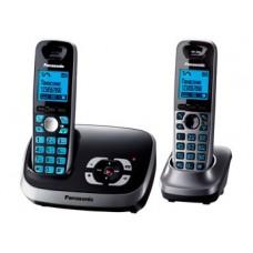 72 KX-TG6522RU1 (черный) 2 трубки в комплекте, AOH, Caller ID, подключ до 6 доп.трубок, подсветка дисплея, скиперфон, полифония, цифровой автоответчик