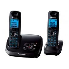 72 KX-TG6522RUT (темно-серый металик) 2 трубки в комплекте, AOH, Caller ID, подключ до 6 доп.трубок, подсветка дисплея, скиперфон, полифония, цифровой автоответчик