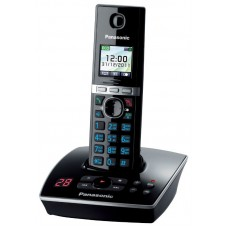 72 KX-TG8061RUB (черный) AOH, Caller ID, подключ до 6 доп.трубок, подсветка дисплея и клав-ры, скиперфон, 200 ном., полифония 32, ночной режим, TFT дисплей цветной, цифровой автоответчик, oднок