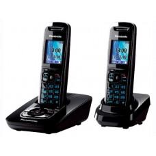 72 KX-TG8422RUB (черный) AOH, Caller ID, подключ до 6 доп.трубок, подсветка дисплея и клав-ры, скиперфон, 200 ном., полифония 32, ночной режим, дисплей цветной 2,0