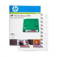 HP Ultrium4 1.6TB bar code label pack (100 data + 10 cleaning) for C7974W (for libraries  and amp  autoloaders)