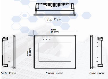 Чертеж панели оператора MT6050iV3